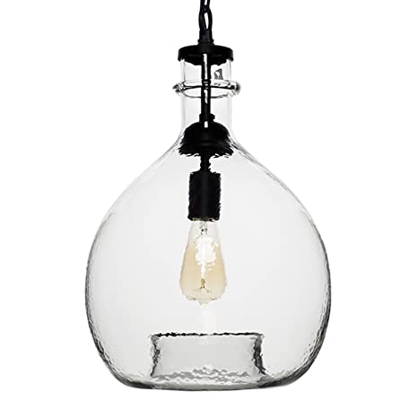 Casamotion wavy vintage industrial hand blown glass pendant light 1 casamotion wavy vintage industrial hand blown glass pendant light 1 hanging light 13 inch aloadofball Images