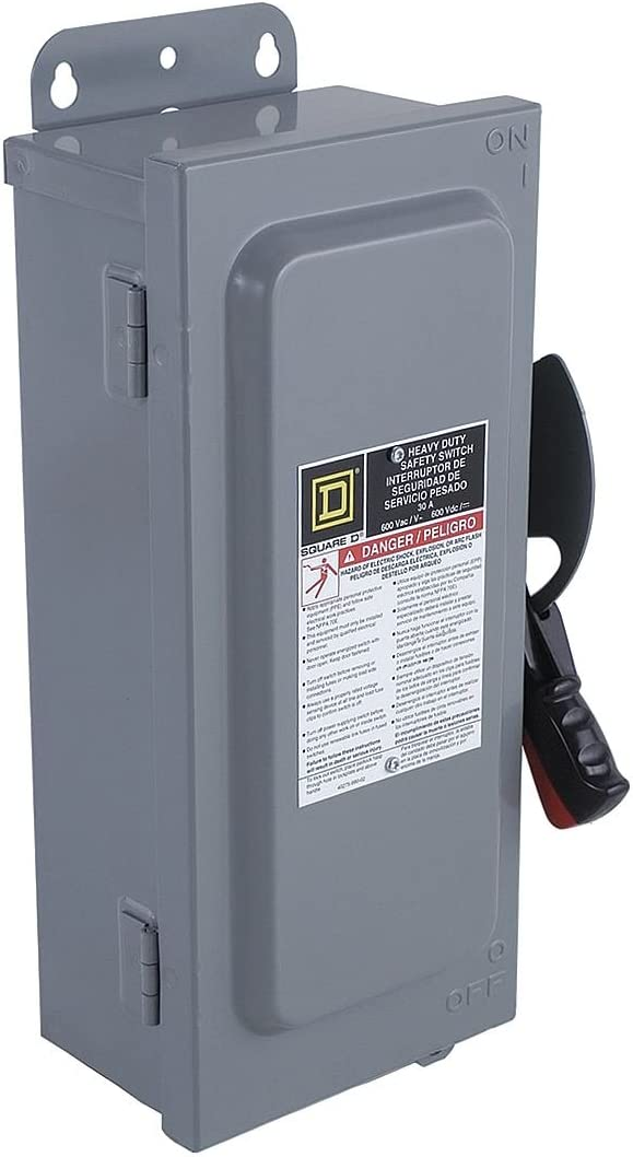 SQUARE D H362N 60A 600V 3P 3Ph N1 Fused Used