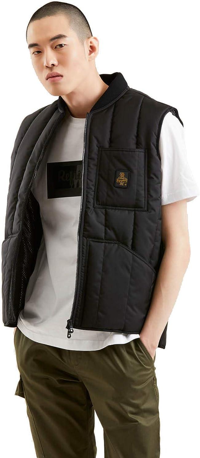 RefrigiWear Smanicato e Impermeabile Gilet Original Vest per Uomo Primaverile Trapuntato