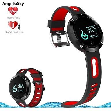 angeliasky 2017 nueva moda reloj inteligente Fitness Rastreador ritmo cardíaco monitor presión arterial Tracker podómetro Monitor