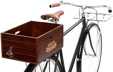 Estado bicicleta de madera ciudad trasera bicicleta cajón: Amazon.es: Deportes y aire libre