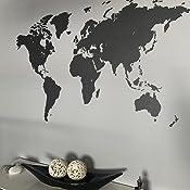 MiMi Innovations - Decoración de Pared de Mapa del Mundo de Madera ...