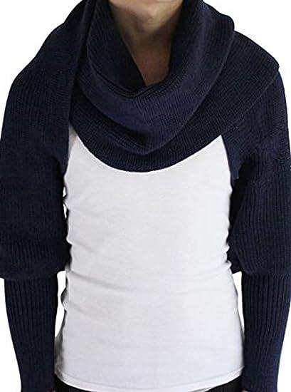 3bfd89192b88 Butterme Automne Hiver couleur unie tricoté écharpe châle avec manches pour  Femme Filles  Amazon.fr  Sports et Loisirs