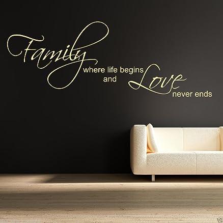 Famiglia Love Vita Begin Adesivo Artistico Da Parete Trasferello A ...