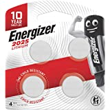 Energizer 2025 Coin Battery, Pack of 4
