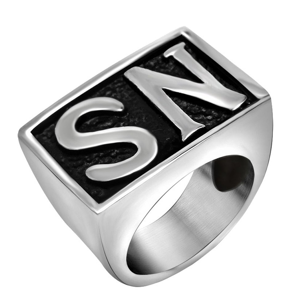 FANSING Biker Ring Mens, Cosplay NS Rings, Stainless Steel, Size 7-12 DGMENGHUAN