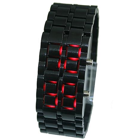 Reloj digital LED Samurai para hombres y mujeres y niños, con correa ajustable, color