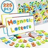Seckton Magnetic Letters and Numbers for Toddlers Education Spelling and Learning Alphabet Refrigerator Magnets Toys for Kids Teacher and Children Christmas Birthday Gifts