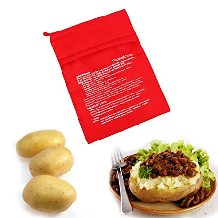 Chisbbu - Bolsa de Cocina Lavable para microondas, Patatas ...