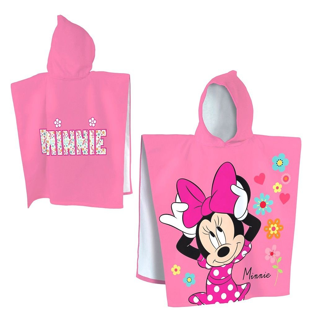 Disney Serviette Poncho a Capuche Plage 60 x 120 cm Minnie Mouse Bain