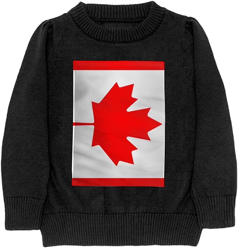 DTMN7 Flag Of Canada Teens Sweater Long Sleeves Crew-Neck Youth Athletic Casual Tee Junior Boys