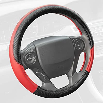 Lady Bug BDK Universal Fit Comfort Grip Steering Wheel Cover