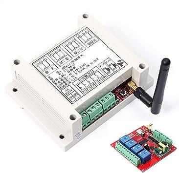 AC 110V-230V Interruptor De Relé WiFi,Múltiplecanal Módulo De Relé De Red De Control Remoto De Teléfono Móvil con Antena Inalámbrica Smart Home