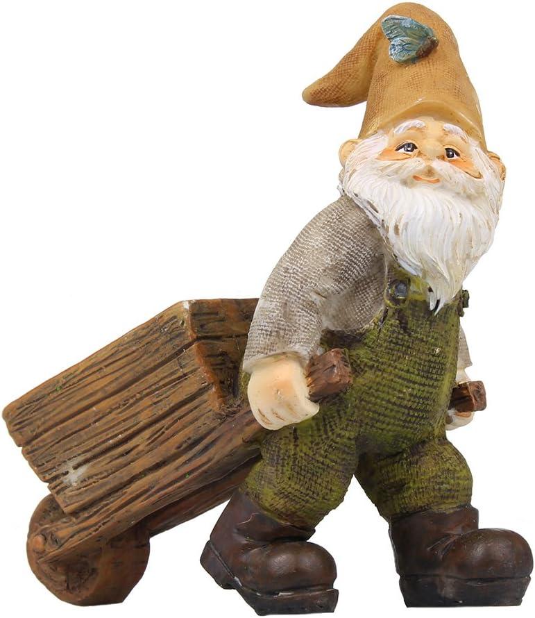 NW Wholesaler Fairy Garden Supply - Gnome Figurine - Wheelbarrow Gnome