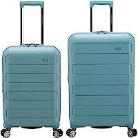 Traveler's Choice Pagosa Indestructible Hardshell Expandable Spinner Luggage, Baby Blue, 2-Piece Set (22/26)