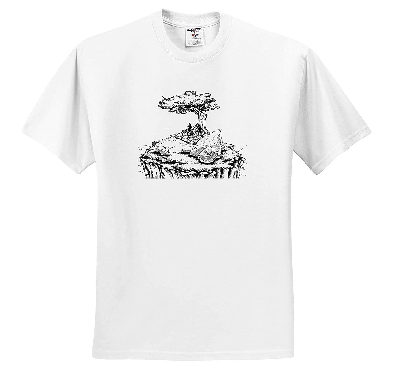 A Secluded Picnic for Two 3dRose Travis ECK Art Adult T-Shirt XL ts/_317517