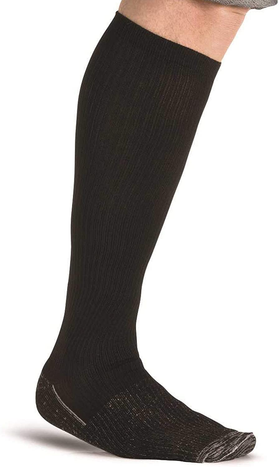 Big and Tall Available EMEM Apparel Men/'s Mild Compression Over the Calf Socks 12-15 mmHg 2-Pack