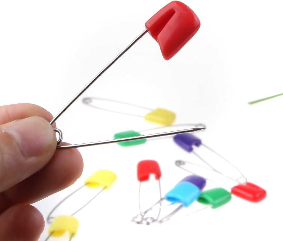 Fletion 20 pezzi misti colorato in acciaio INOX Baby Name tag Bead ago pins Boutonniere pins Pretty spille spille di sicurezza sartoria pins for Art fai da te accessori per la decorazione
