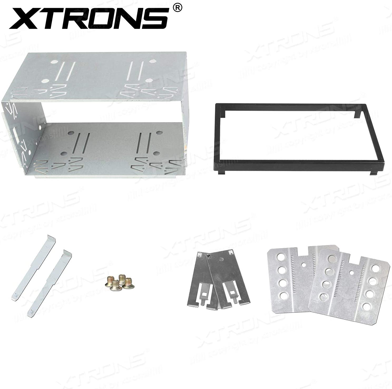 Supports montage en métal radio remplacement pour Car Audio Stéréo 2 Din