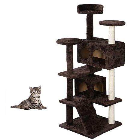 Amazon.com: Yallstore - Torre de árbol de gato de 52.0 in ...