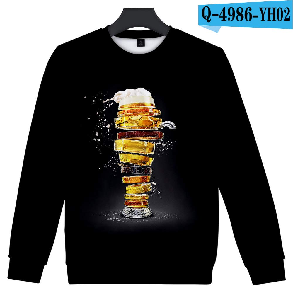 yinghuohuo Beer Figure 3D Casual Crew Sweater A XXL: Amazon.es: Hogar