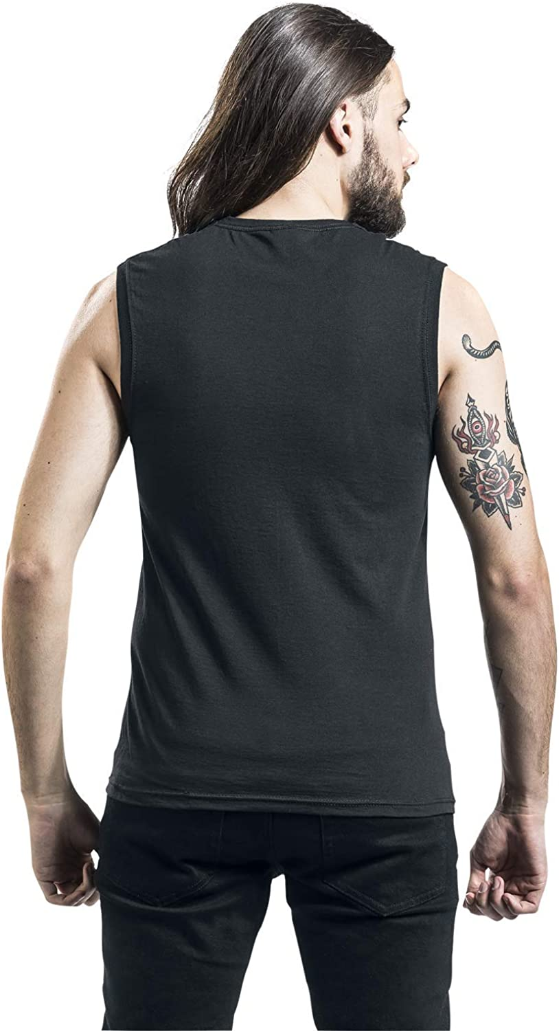 Red Hot Chili Peppers Stencil Asterisk Tanktop Black