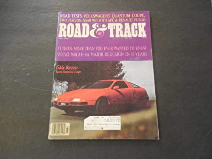 Road And Track Jul 1982 VW Quantum Coupe; Saab 900 Turbo; Renault Fuego