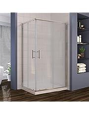 ELEGANT 900 x 800 mm Sliding Corner Entry Shower Enclosure Door Cubicle