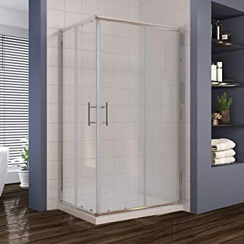 Elegant 800 X 700 Mm Sliding Corner Entry Shower Enclosure Door Cubicle Amazon Co Uk Diy Tools
