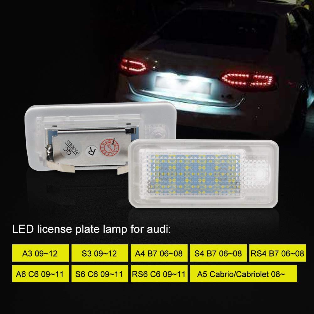 1 an de Garantie Safego LED /Éclairage de plaque dimmatriculation Auto Ampoules Super Brillant 6000K X/énon Blanc 24 SMD Feux arri/ère pour B-M-W E39//E46//E60//E70//E90//E91//E92//E93//F10 etc 2 pi/èces