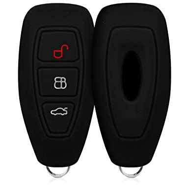 Kwmobile Ford Car Key Cover Silicone Protective Key Fob Cover For