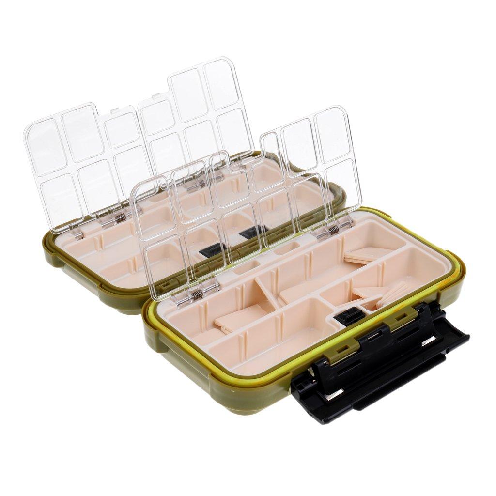 MagiDeal Bo/îte de Rangement P/êche /à La Mouche Multicompartiments Box Stockage Leurres App/âts Hame/çon Outil Case
