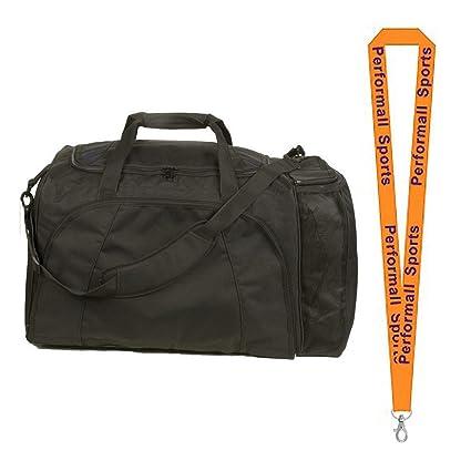 28bf40f0a341 Champion Sports Football Equipment Bag Black Bundle 1 Performall Lanyard  FB1528BK-1P