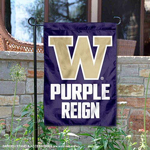 (College Flags and Banners Co. Washington Huskies Purple Reign Garden Flag)