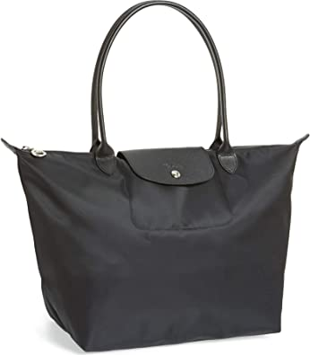 Longchamp 'Large Le Pliage Neo' Nylon Tote Shoulder Bag, Black