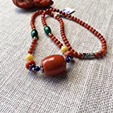 Generic [No]_5mm_Nianwen_play_nine_ full red _meat_South_barrel_ bead necklace Pendant chain clavicle