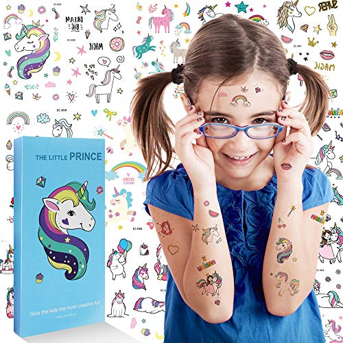 Unicorn Temporary Tattoos - Waterproof Unicorn Stickers for Kids,Unicorn Party Supplies,Unicorn Tattoos Best Birthday Gifts for Girls and Boys,Over 1000 Tattoos Stickers (Tattoo/Nail Stickers) by oannao