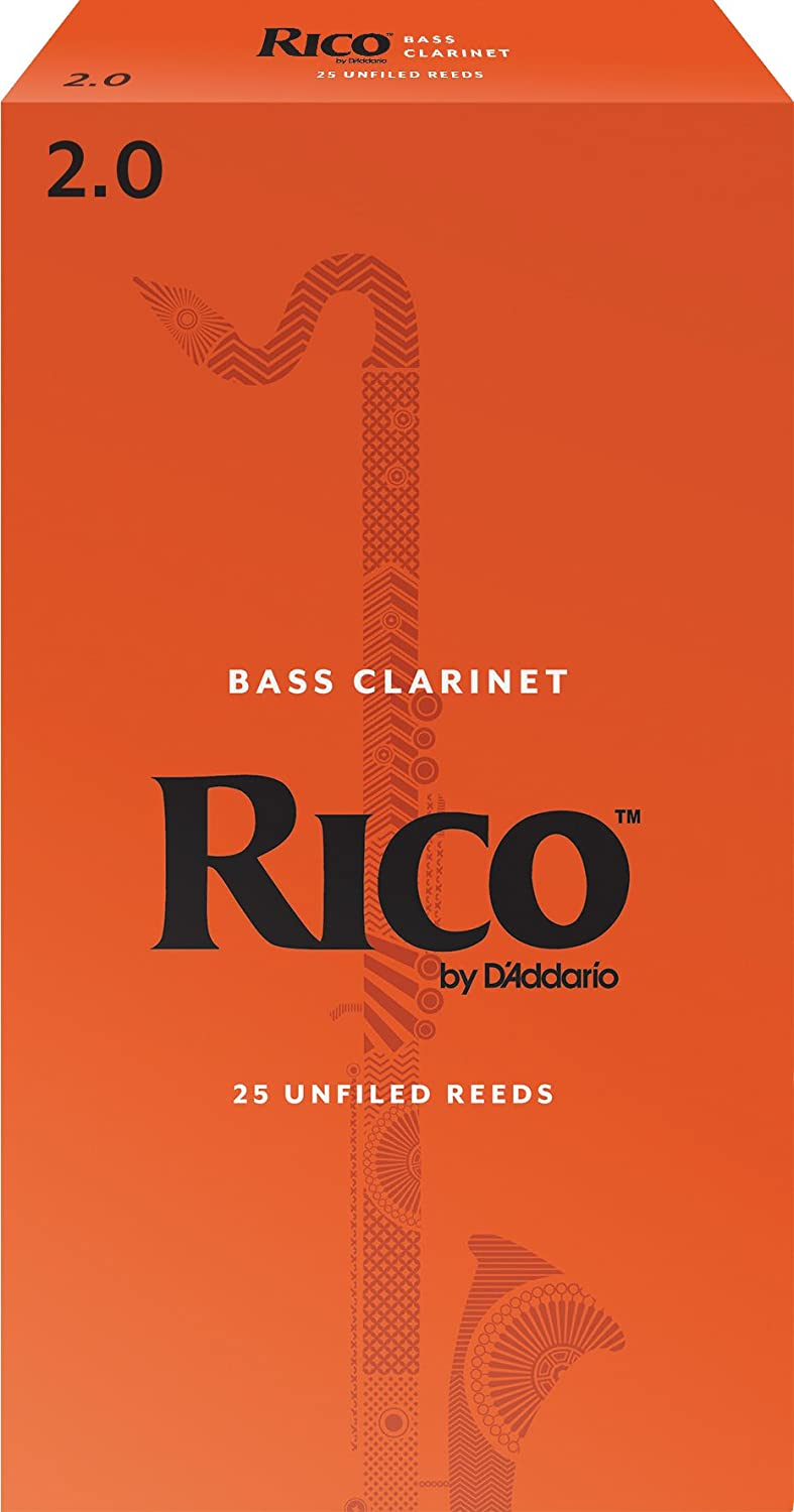 Rico by D'Addario Bass Clarinet Reeds, Strength 2.5, 10-pack D'Addario &Co. Inc REA1025