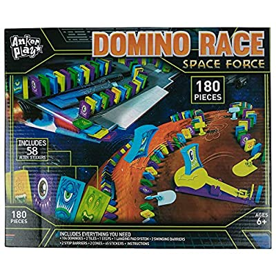 Anker Play Kids Toy Playsets - Domino Race Space Force - Sold Individually: Toys & Games