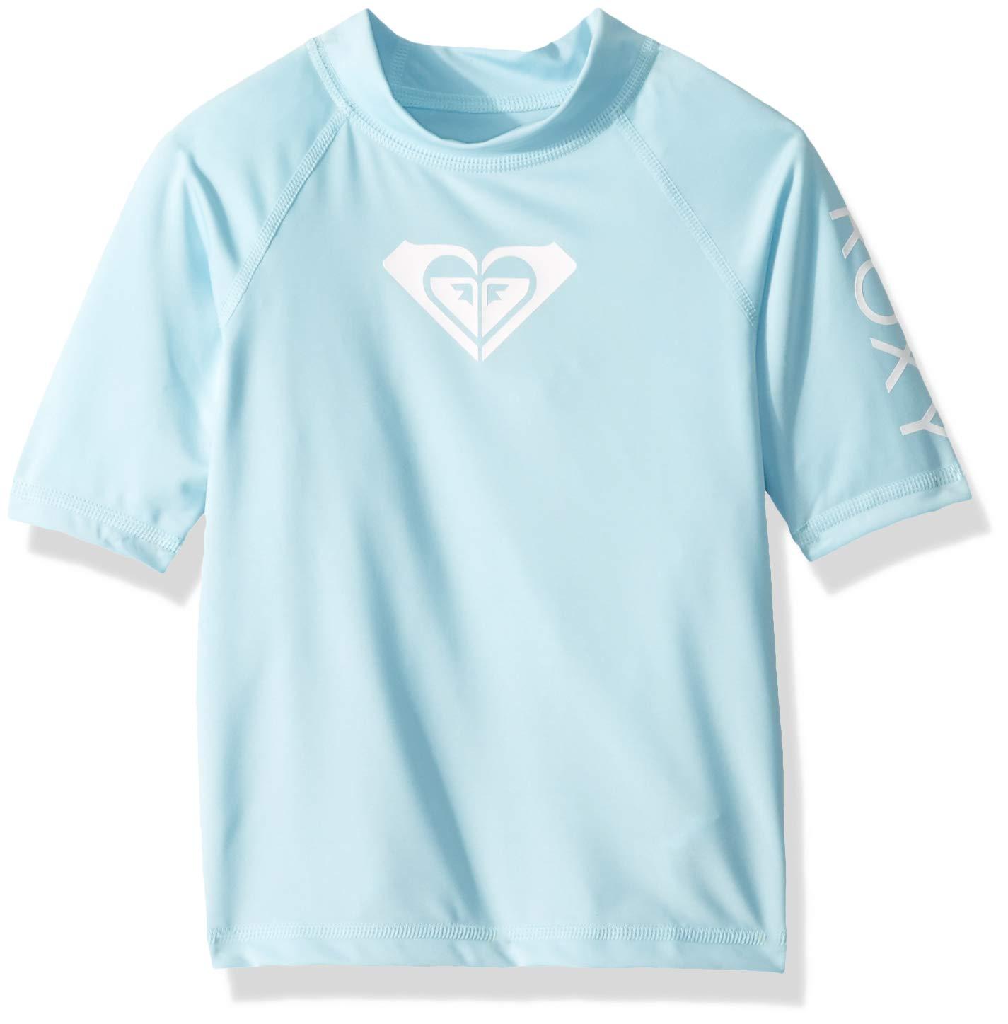 Roxy Toddler Girls' Whole Hearted Short Sleeve Rashguard, Crystal Blue, 2 by Roxy