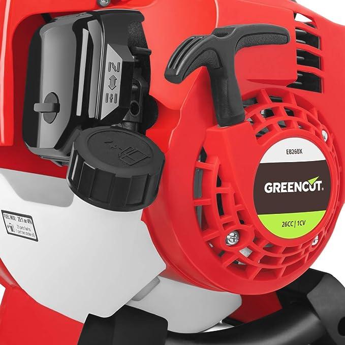 Greencut EB260BN Soplador térmico de hojas 26cc, 225 km / h ...