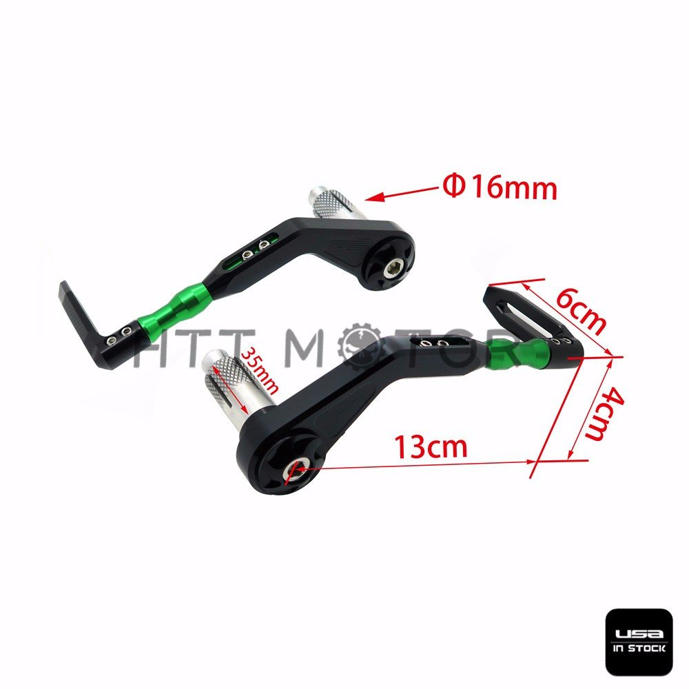 """3D 7//8/"""" 22mm CNC Brake Clutch Lever Protective Guards Bar Ends Motorcycle Handle"""