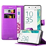 Cadorabo Case works with Sony Xperia X PERFORMANCE Book Case in PASTEL PURPLE – with Magnetic Closure, Stand Function and Card Slot – Wallet Case Etui Cover PU Leather Flip