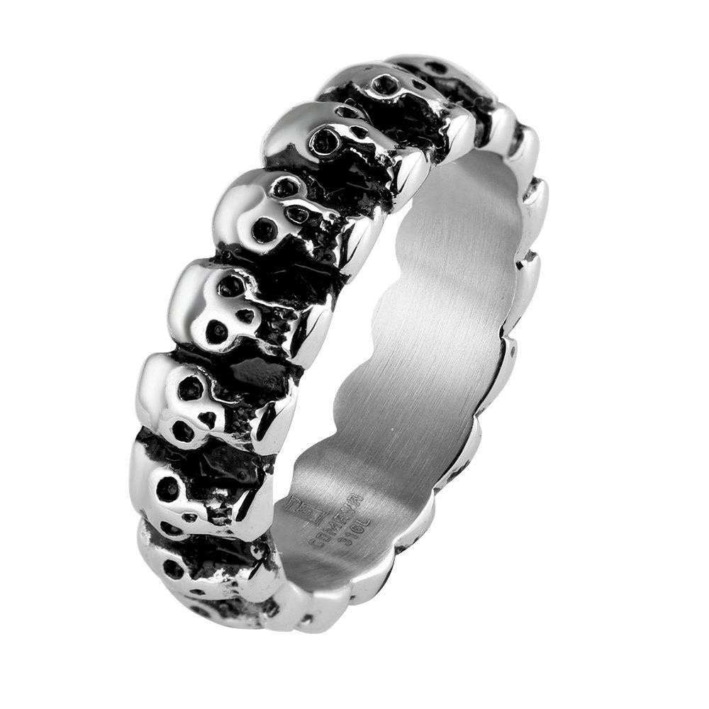 Vintage Skull Bone Band Style Ring Midi Toe Finger Ring For Men Women Novelty Punk Jewelry Party Prom Wear Birthday Gift Missrui 18GMYR023