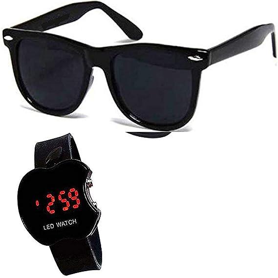 727ba0031c8 Y S Wayfarer Men and Women s Aviator Sunglasses Combo (Black)  Amazon.in   Clothing   Accessories