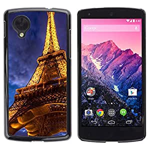 - Paris Eiffel Tower - - Monedero pared Design Premium cuero del tir¨®n magn¨¦tico delgado del caso de la cubierta pata de ca FOR LG Nexus 5 E980 D820 D821 Funny House