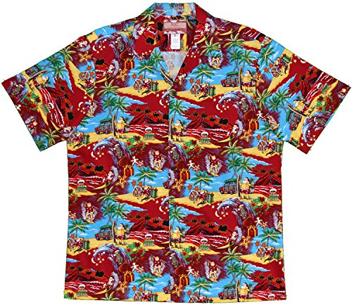 Mens Santa's Christmas Break Hawaiian Shirt