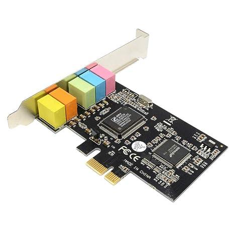 Amazon.com: Tarjeta de sonido PCIe, tarjeta de sonido ...