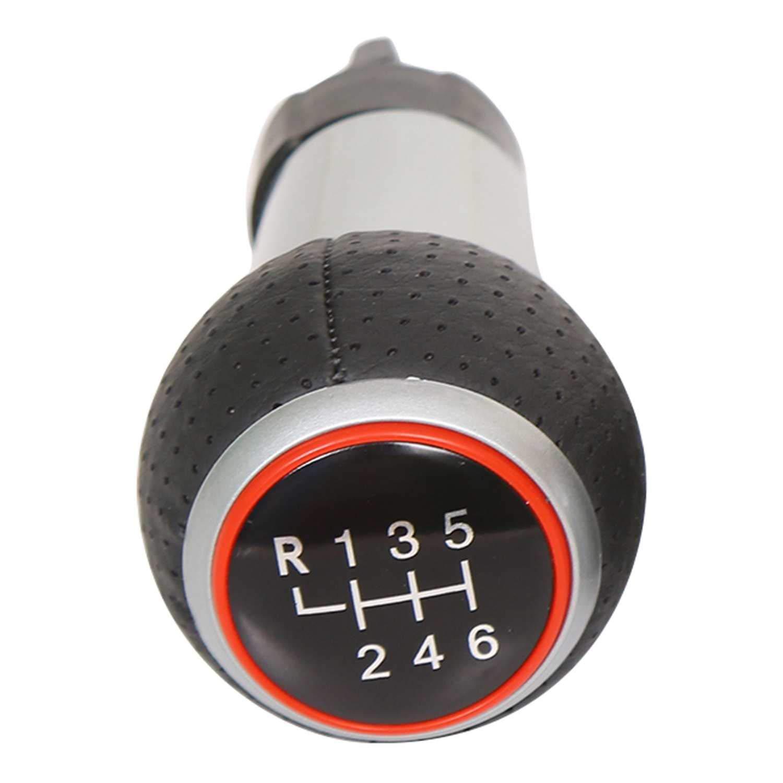 REFURBISHHOUSE pour Balle De Changement De Vitesse 6 pour A3 A4 B6 B7 B8 A6 S4 B8 8K A5 8T Q5 8R Noir Argent/é
