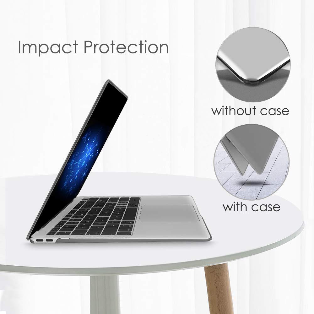 Fintie Funda para MacBook Air 13 2018 - S/úper Delgada Carcasa Recubierto de Goma Protector de Pl/ástico Duro para MacBook Air 13 Pulgadas Pantalla Retina con Touch ID 2018 Azul Oscuro A1932
